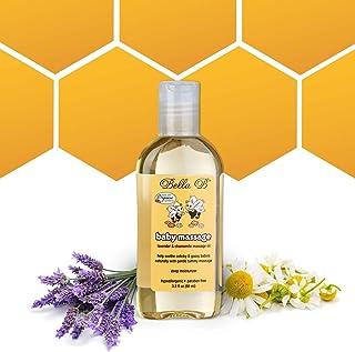 BELLA B Baby Massage Oil 3.3 oz - Baby Oil Organic - Infant Massage Oil Baby - Baby Massage Oil Organic - Organic Baby Oil...