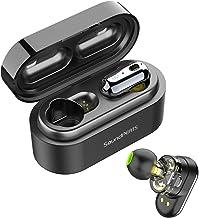 Auriculares Inalámbricos Bluetooth 5.0 TWS SoundPEATS Truengine Mini True Wireless Cascos IPX6 con Micrófono Dual Drivers Audífonos In-Ear Manos Libres(Negro)