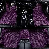 Alfombrillas Coche para Maserati Todos los Modelos Granturismo Ghibli Levante Quattroporte Alfombras Coche Y Moquetas para Coches, Púrpura