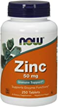 NOW Supplements, Zinc 50 mg, 250 Tablets