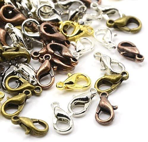 Wholesale Metal Alloy Lobster Popular brand in the world Clasps 6x12mm 10 Discount is also underway Pack Mixed-Colour