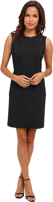 Elie Tahari Womens Bently Zipper Detail Sleeveless Wear to Work Dress