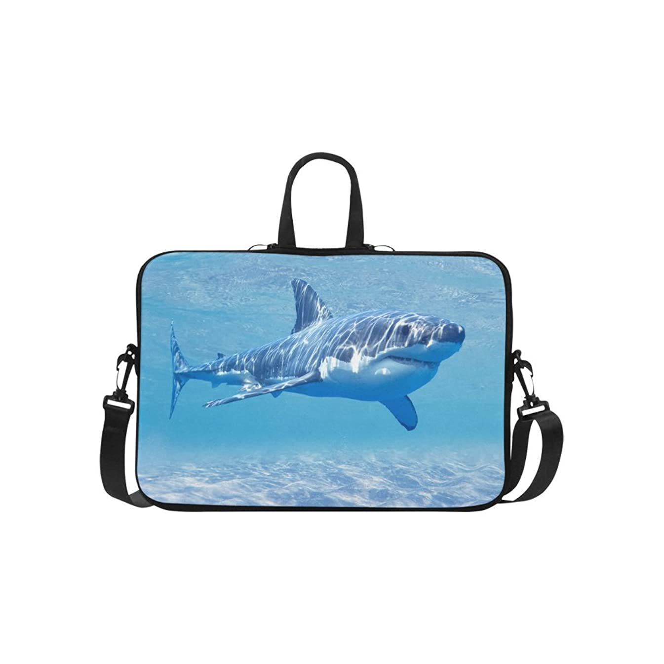 InterestPrint Ocean Sea Shark Laptop Sleeve Case Bag, Underwater World Shark Shoulder Strap Laptop Sleeve Notebook Computer Bag 15-15.6 Inch for Macbook Pro Air Dell HP Lenovo Thinkpad Acer Ultrabook