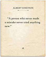Albert Einstein - A Person Who Never - 11x14 Unframed Typography Book Page Print - Great Gift for Book Lovers, Also Makes a Great Gift Under $15