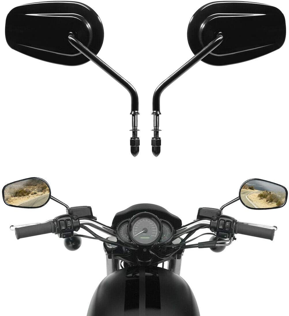 Surprise price TCMT 8mm Black Rear View Mirrors For Fits Davidson XL1200 Harley Fashion