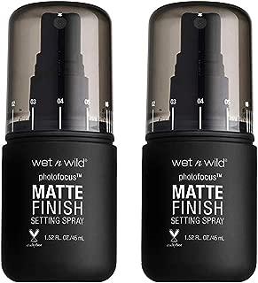 Wet n Wild Photofocus Setting Spray, 1.52 Fluid Ounce, (Pack of 2) (772 Matte Appeal)