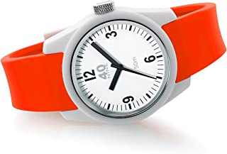40Nine Women's Basic Japanese-Quartz Watch with Silicone Strap, red, 17 (Model: 40N4.5L)