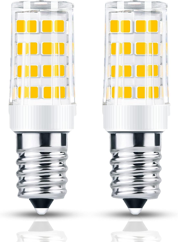 2 bombillas LED E14 de 4 W equivalentes a 40 W halógenas, blanco cálido 3000 K, 400 lm, no regulable, para frigorífico, máquina de coser, lámpara de sala, campana y luz nocturna