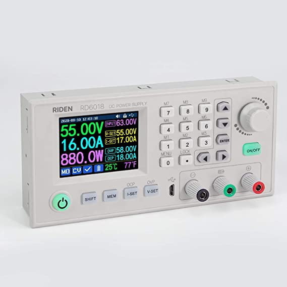 Riden RD6012 DC Power Supply Variable Adjustable Lab Bench Power Supply Buck Converter Step Down Switching Regulated 4-Digital LCD Display 60V 12A