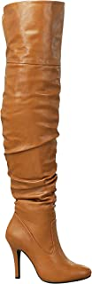 Forever Link Focus-33 Women's Fashion Stylish Pull On Over Knee High Sexy Boots