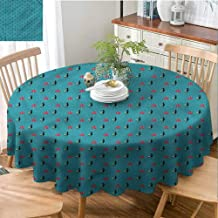 Mannwarehouse Cat Elegance Engineered Tablecloth House Pet with Umbrella Waterproof/Oil-Proof/Spill-Proof Tabletop Protector D39