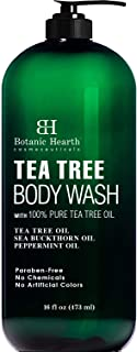 BOTANIC HEARTH Tea Tree Body Wash, Helps with Nails, Athletes Foot, Ringworms, Jock Itch, Acne, Eczema & Body Odor, Soothe...