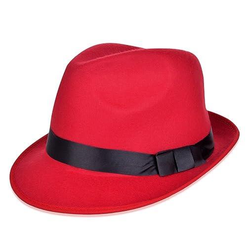 VBIGER Fedora Hats Bowler Hat Gangster Porkpie Derby Hats 49df5f7f7e8