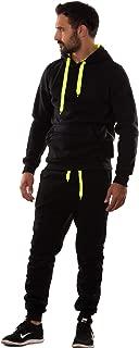 Felpa uomo cappuccio sportiva tuta fitness sport tasche maglia casual GR-5958