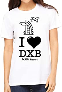 fmstyles - I love like DXB Dubai airport Unisex Tshirt - fmS230