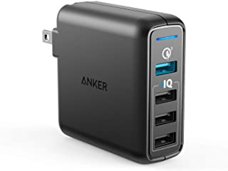 Anker Quick Charge 3.0 43.5W 4-Port USB Wall Charger, PowerPort Speed 4 for Galaxy..