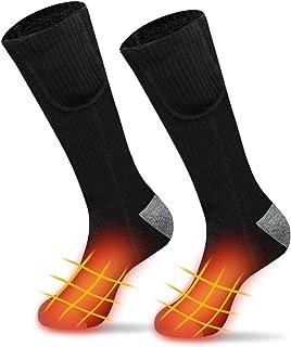 U N Heated Socks for Men Women, 3 Heating Settings Electric Rechargable Battery Thermal Socks Foot Warmers, Winter Warm He...