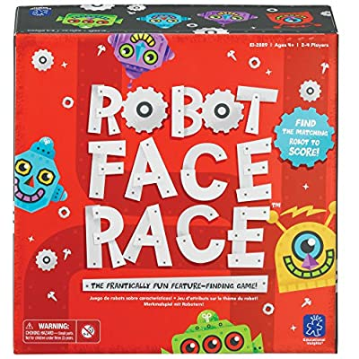 Educational Insights Robot Face Race, Fast Paced Color Recognition Matching Game, for Ages 4+