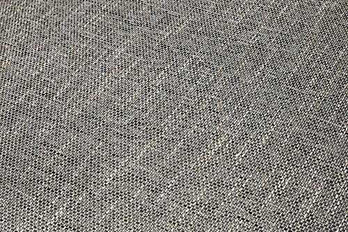 Großes Design Sofa LOFT XXL weiß grau Strukturstoff inklusive Hocker - 6