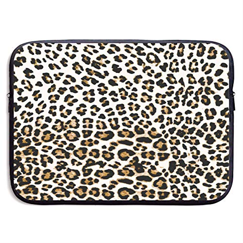 Leopard Print in Black and White 13' 15' inch Laptop Sleeve Case Cover Compatible Samsung Google Acer HP DELL Lenovo Asus Neoprene Waterproof Case