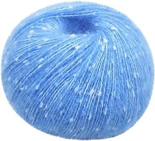 Fan-Ling 1PCS 50G Children's Knitting Baby Wool Bar Needlework Doll DIY Yarn,Assorted Colors Smooth DIY Hand Knitting Baby Craft Shawl Scarf Crochet Thread Supplies (C)
