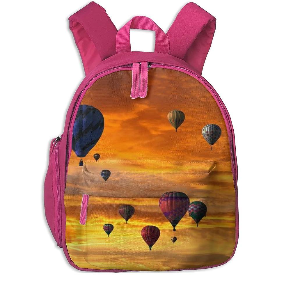 差し引く同一性ルートリュック サック児童バッグ 熱気球 リュック バックパック 軽量 通学 通園 遠足 子供用 女の子 男の子 幼稚園 男女兼用バッグパック