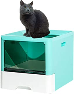 Drawer Type Cat Litter Box Fully Enclosed Deodorant Pet Toilet With Shovel High Capacity Cat Litter Tray Within 10KG(Color...