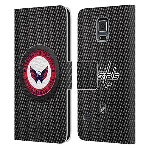 Head Case Designs Licenza Ufficiale NHL Tessuto a Disco Washington Capitals Cover in Pelle a Portagoglio Compatibile con Samsung Galaxy S5 / S5 Neo