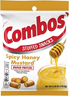 Combos  Spicy Honey Mustard Pretzel Baked Snacks, 6.3-Ounce Bag (Pack of 12) (10041419781644)