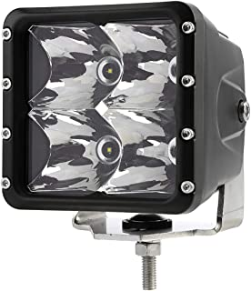 Auxbeam 4 Inch Led Pod Spot Led Light with Integrated DT & Built-in Fan Cube LED Work Light Pods Off Road Led Fog Light Driving Light Compatible for Boat Truck Jeep SUV ATV UTV