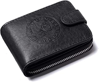 Men's Leather Driver's License Bag Multi-Function Card Package Anti-Theft Brush Multi-Card Wallet ID Package