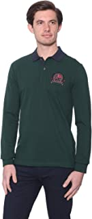 U.S. Polo Assn. Cotton Embroidered Chest Logo Contrast Collar Long Sleeves Polo Shirt for Men