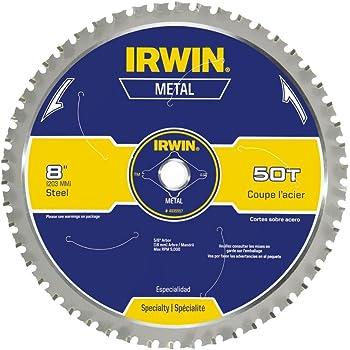 IRWIN 8-Inch Circular Saw Blade, Metal-Cutting, 50-Tooth (4935557)