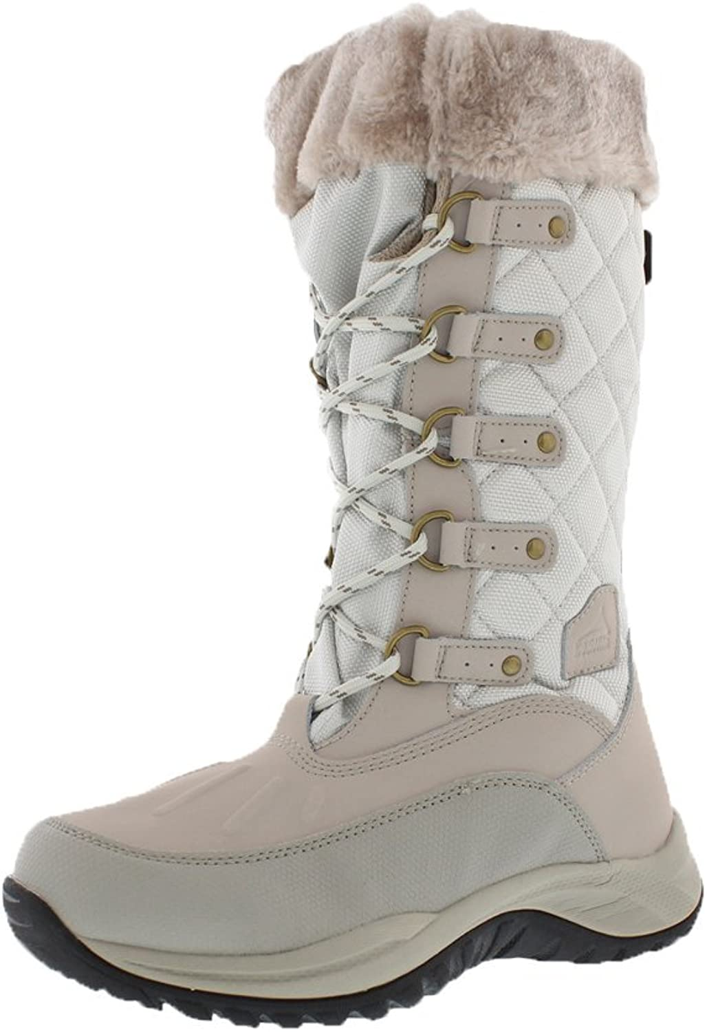 Pacific Mountain Women's Whiteout Water-Resistant Winter Fashion Snow Boots