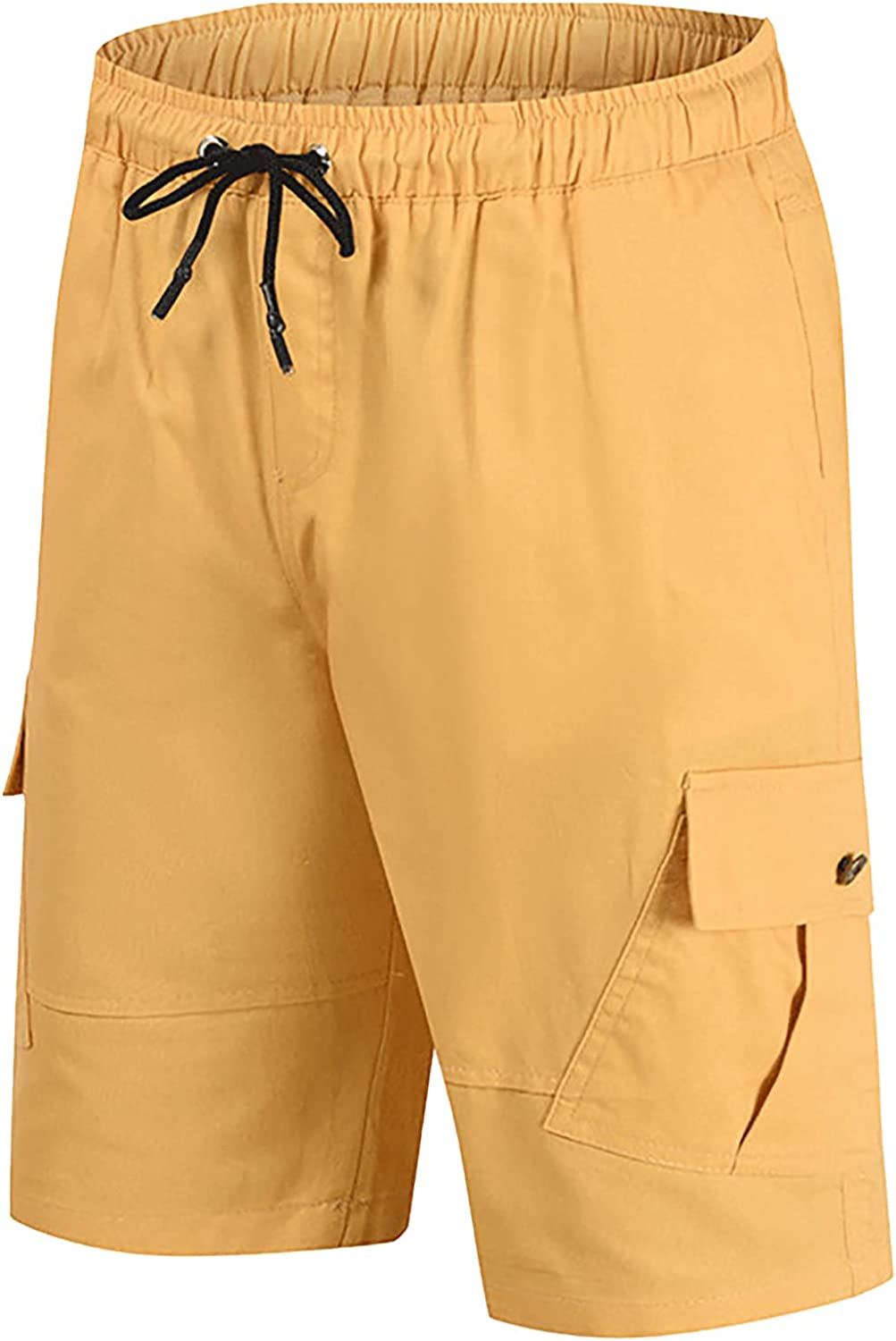 Summer Cargo Shorts for Men Casual Basic Loose Fit Overalls Below Knee Work Hiker Big and Tall Cropped Pants
