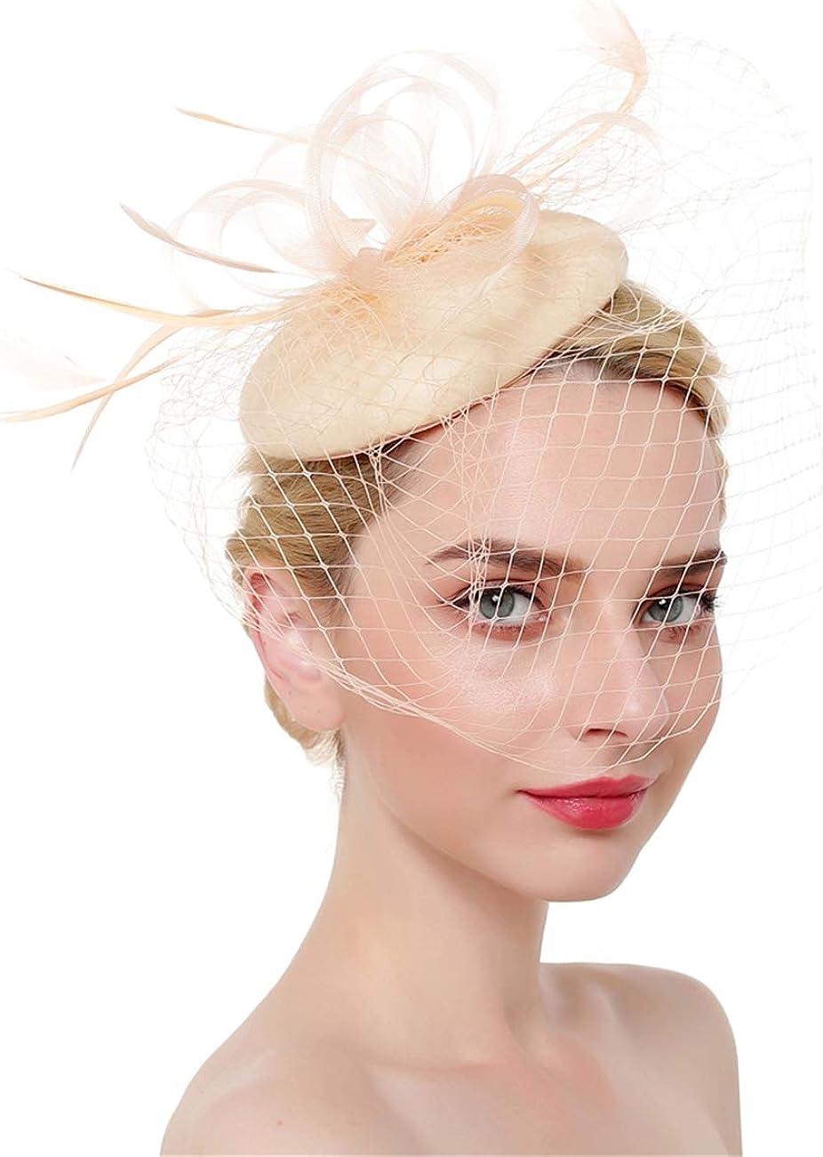 Fascinator Flower Feather Veil Kentucky Derby Tea Party Headwear for Women