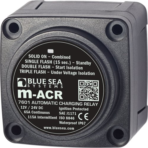 Blue Sea Systems m-Series Automatic Charging Relay - 12/24V DC / 65A, Beige (7601-BSS)