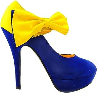 SHOW STORY Sexy Ladies Bow Ankle Strap Stiletto Platform Pumps Shoes,LF30412
