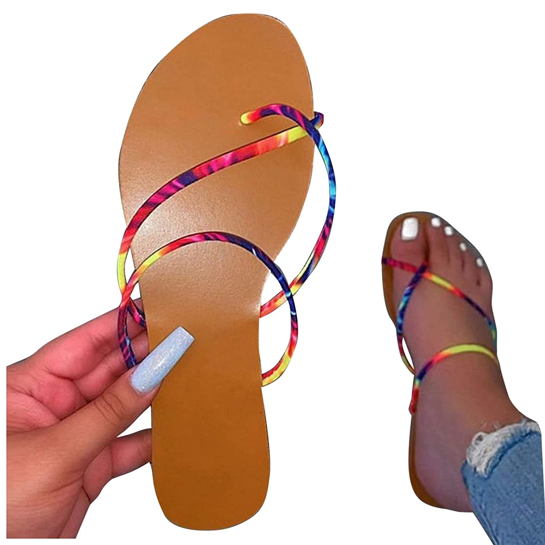 Reokoou Womens Slip 4 years warranty On Flip Max 73% OFF Flops Strappy Open Toe Summer Gladia