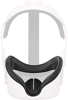 Esimen VR Face Silicone Mask Pad & Face Cover for Oculus Quest 2 Face Cushion Cover Sweatproof (Black)