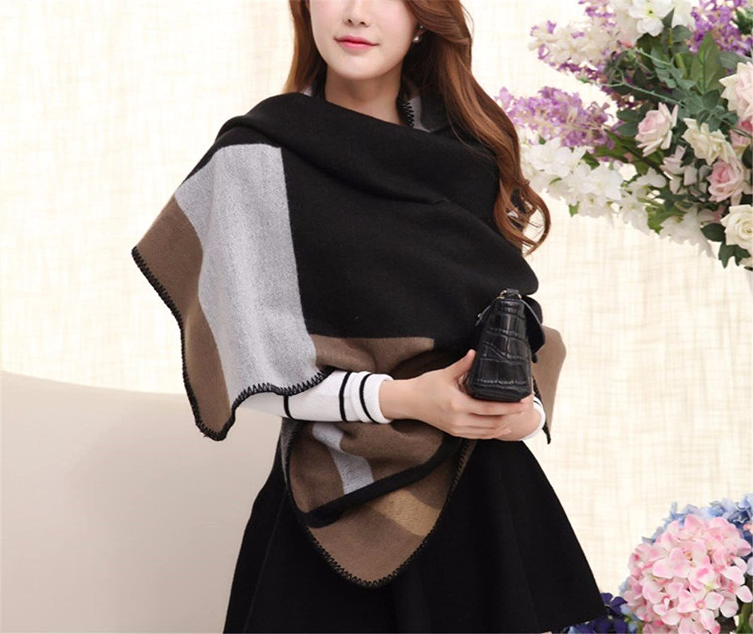 FLYRCX Office air Conditioning Room Warm Lady Shawl Spring and Winter Thickening of Cashmere Cashmere Scarf 185cmx65cm