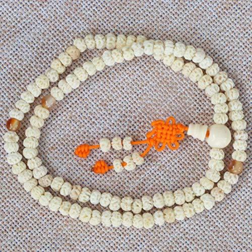 JONJUMP Collar con cuentas de oración de Tianyizi Bodhi Semillas de budismo tibetano 108