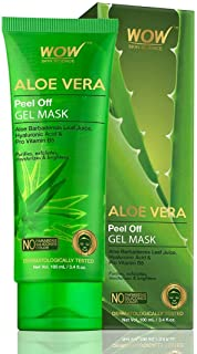 WOW Aloe Vera Peel Off Gel Mask - Deep Pore Cleaner to Remove Black & Whiteheads - Exfoliating Facial Mask For Acne Contro...