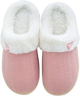 Image of Fur Lined Slip On Women's House Slippers