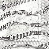 Boston International Ihr 20-Count 3-Ply Tovaglioli di Carta per Bevande, Note Musicali