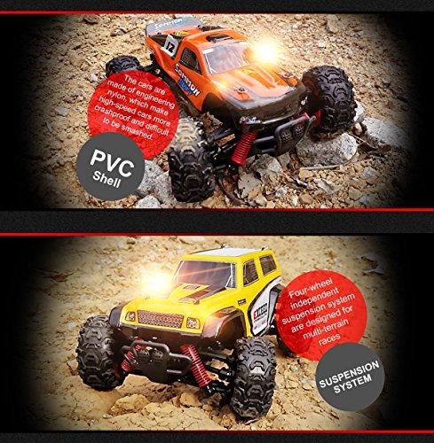 RC Auto kaufen Truggy Bild 6: SUBOTECH BG1510 LYL Ferngesteuerte Autos f r Draussen, RC Auto Elektrisch 4WD 1 24 RTR 40km h, 2 4ghz, Orange*