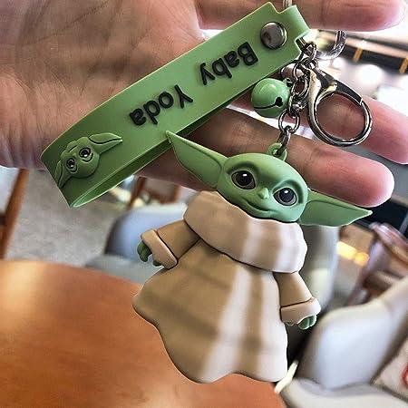 Plasticolor 004515R01 Star Wars Mandalorian Baby Yoda The Child Pod Metal Key Chain
