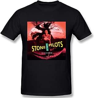 Charlynie Men's Logo Print of Stone Temple Pilots Core Classic Short Sleeve T Shirt Black