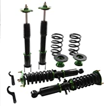 Coilover Struts Spring Shocks Adjustable Coilovers Suspension Coil Spring Shocks and Struts Full Set Kits ECCPP for 2008-2011 Infiniti G37(For RWD ONLY SEDAN/COUPE only)