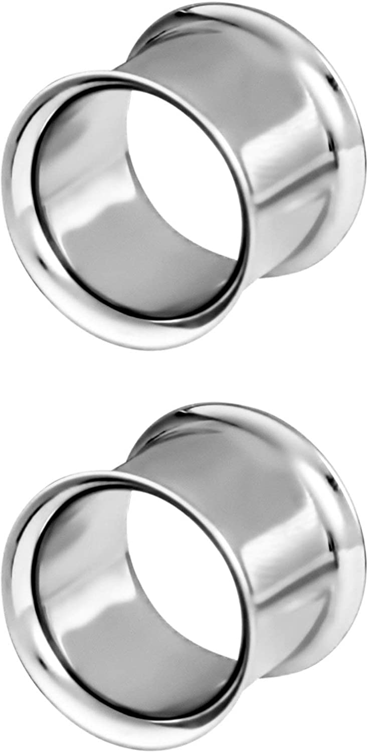 Forbidden Body Jewelry 12G-2 Inch Steel Finish D Mirror Surgical Tampa Mall Ranking TOP11